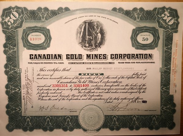 Canadian Gold Mines Corporation