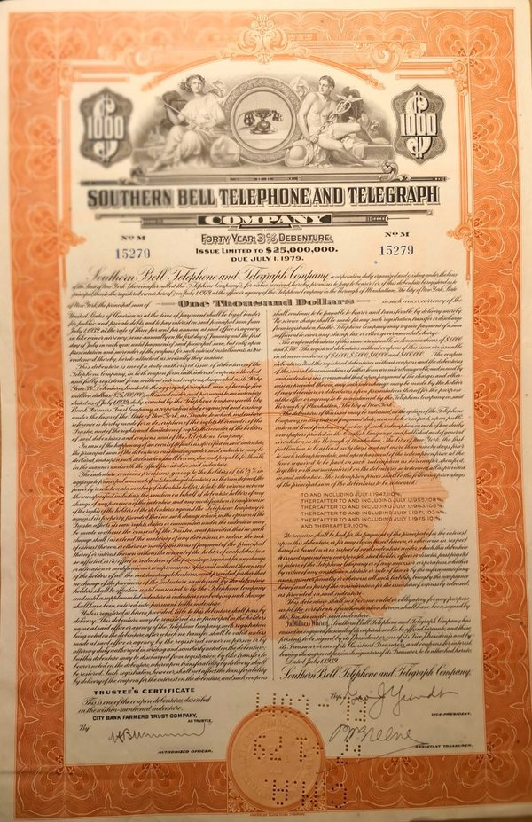 Southern Bell Telephone and Telegraph Wertpapier